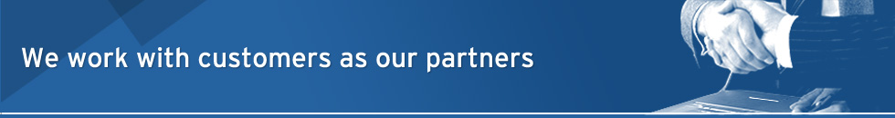 We will work with customers as our partners